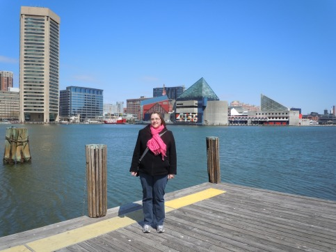 Me at the Inner Harbor in Baltimore