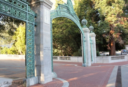 Sather Gate near the administration building.