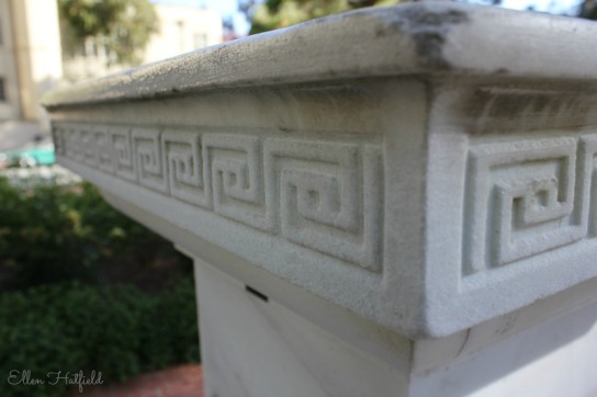 Patterns on the sundial base