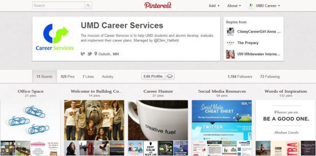UMD CS Pinterest