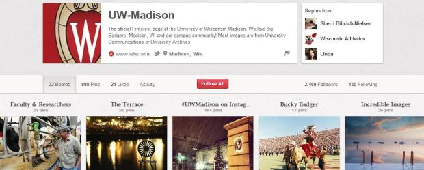 UW Madison Pinterest