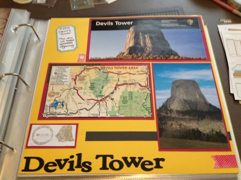 Devils Tower. Way to incorporate memorabilia gathered at the spot.
