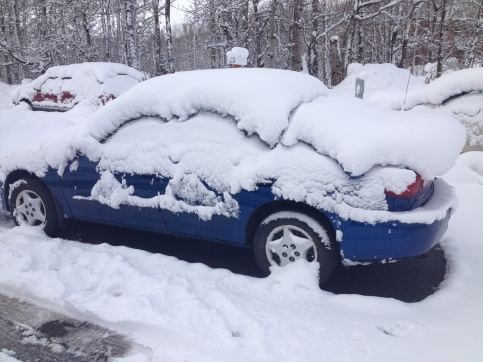 My car after the April 22nd snow