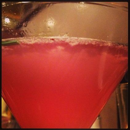 """My delicious """"Prince of Purple"""" martini"""