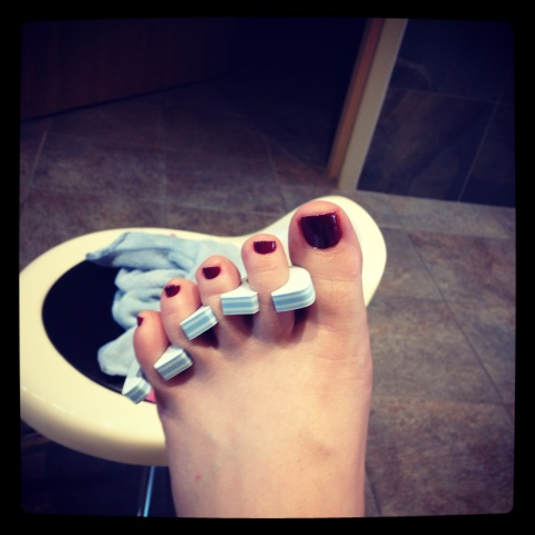 Summerfied toes, ready for sandals!