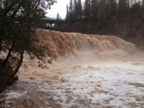 Gooseberry Falls...very, very full