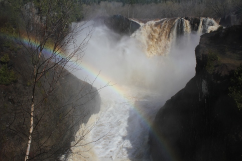 Rainbow #2 at High Falls in Grand Portage State Park