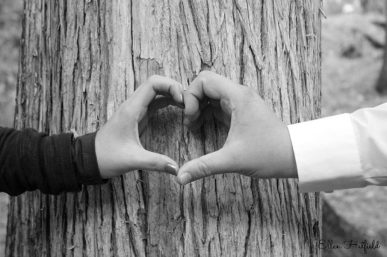 BW Hands Heart