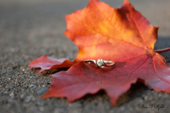 Ring and leaf