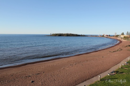 View from our room in Grand Marais