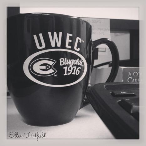 BW UWEC Mug