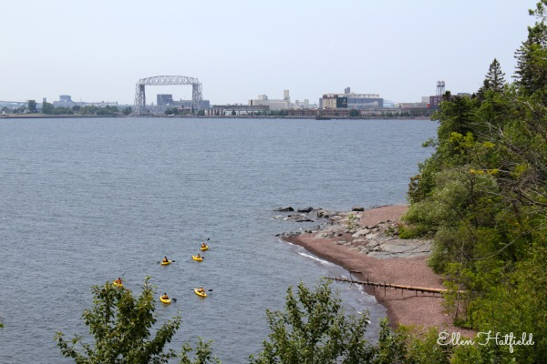 Kayakers on Lake Superior