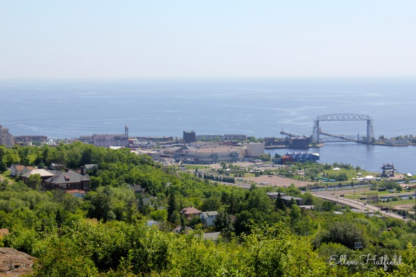 Lake Superior & the Aerial Lift Bridge from Enger Tower