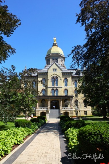 Administration building at University of Notre Dame