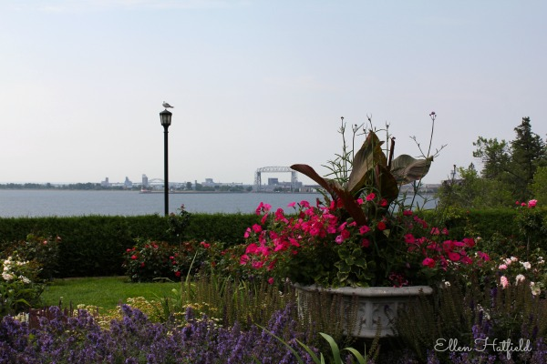 View of Lake Superior from the Rose Garden