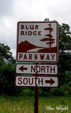 Blue Ridge Parkway, VA - official signage at Rocky Knob Visitor Center