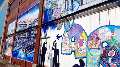 Winston-Salem, NC - murals in art district
